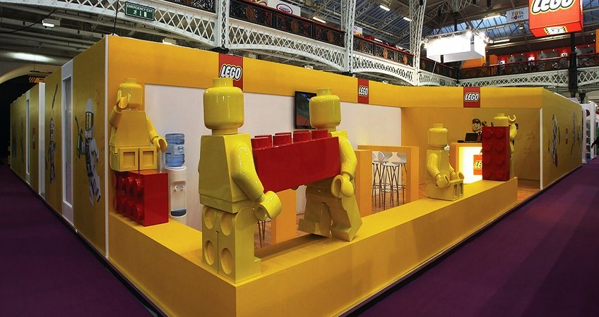 Custom made exhibition stand for Lego